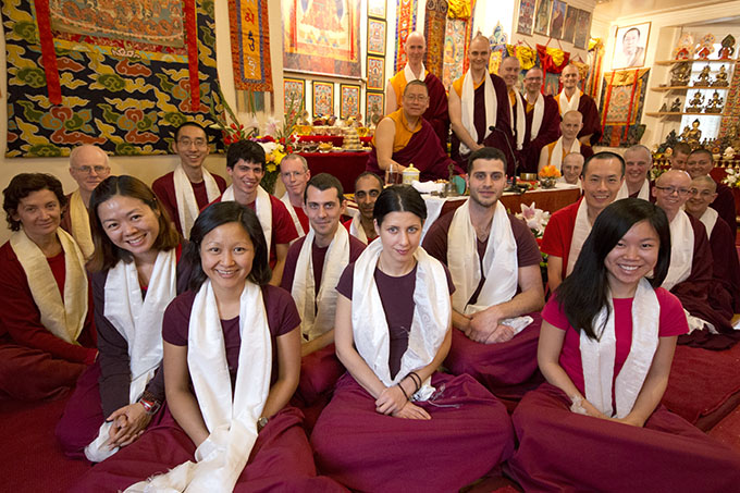 Rinpoche with students at the conclusion of the Pathgate Summer School