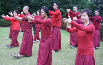 Morning Taijiquan in the park